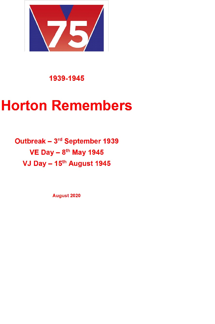Horton Remembers Front Cover
